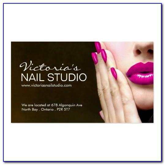 Nail Tech Business Cards Templates