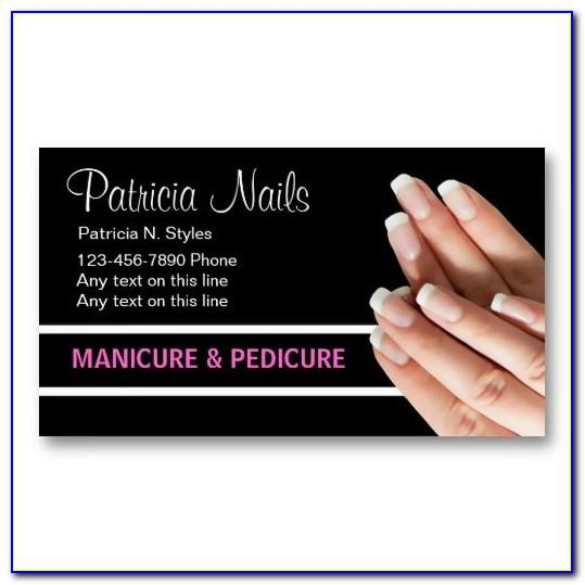 Nail Technician Business Cards Designs