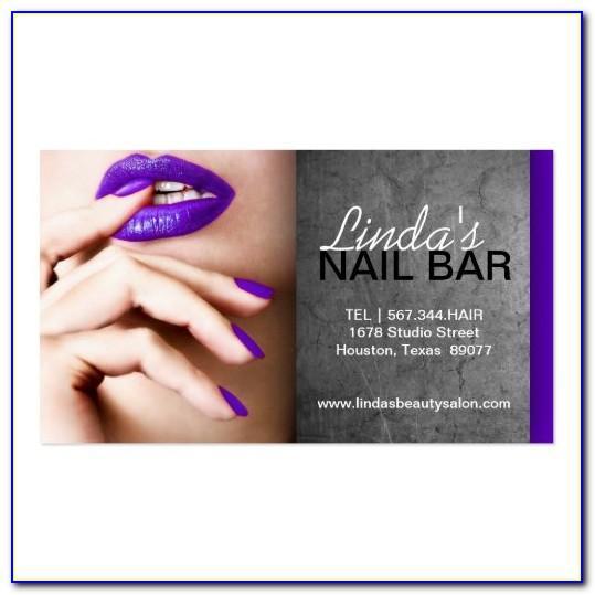 Nail Technician Business Cards Ideas