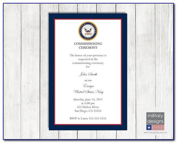 Navy Commissioning Announcements