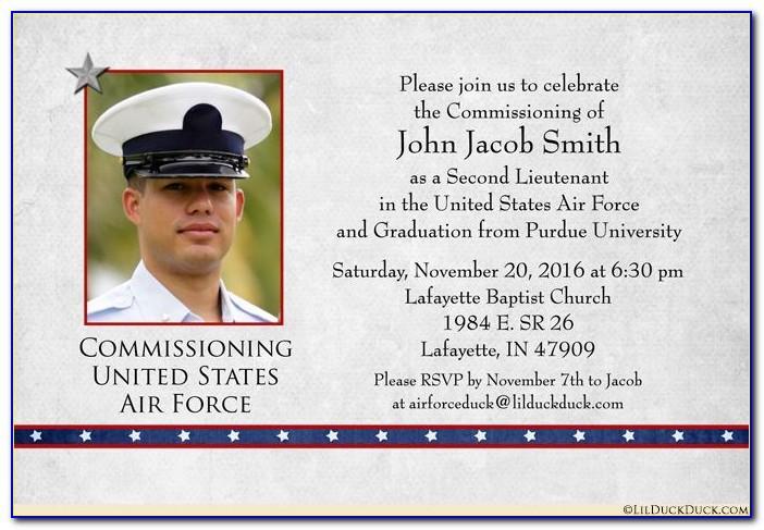 Navy Commissioning Invitations