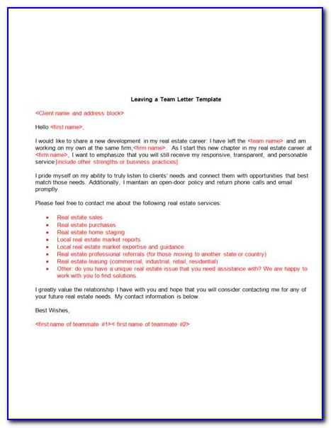 New Real Estate Agent Introduction Letter