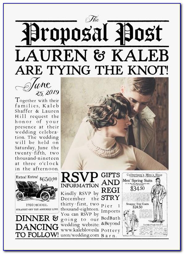 Newspaper Wedding Announcement Sample