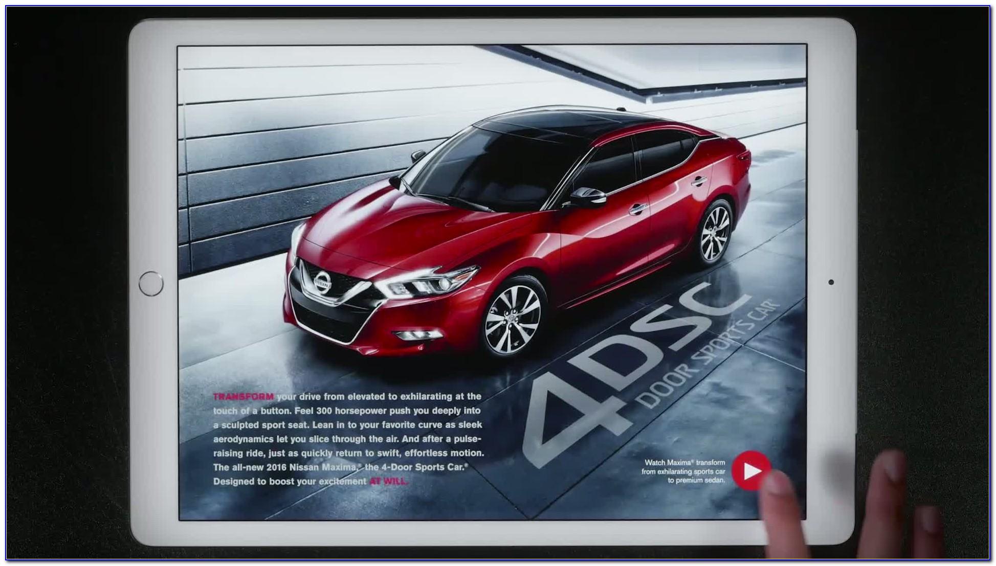 Nissan Interactive Brochure App