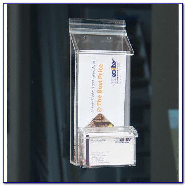 Outdoor Brochure Holder With Stand