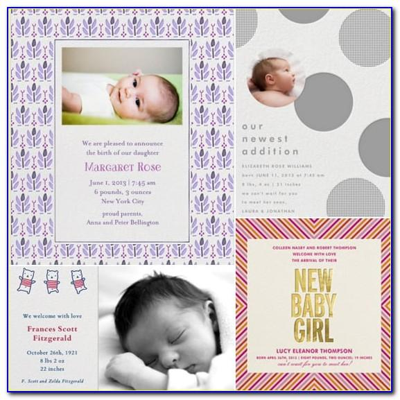 Paperless Post Birth Announcement