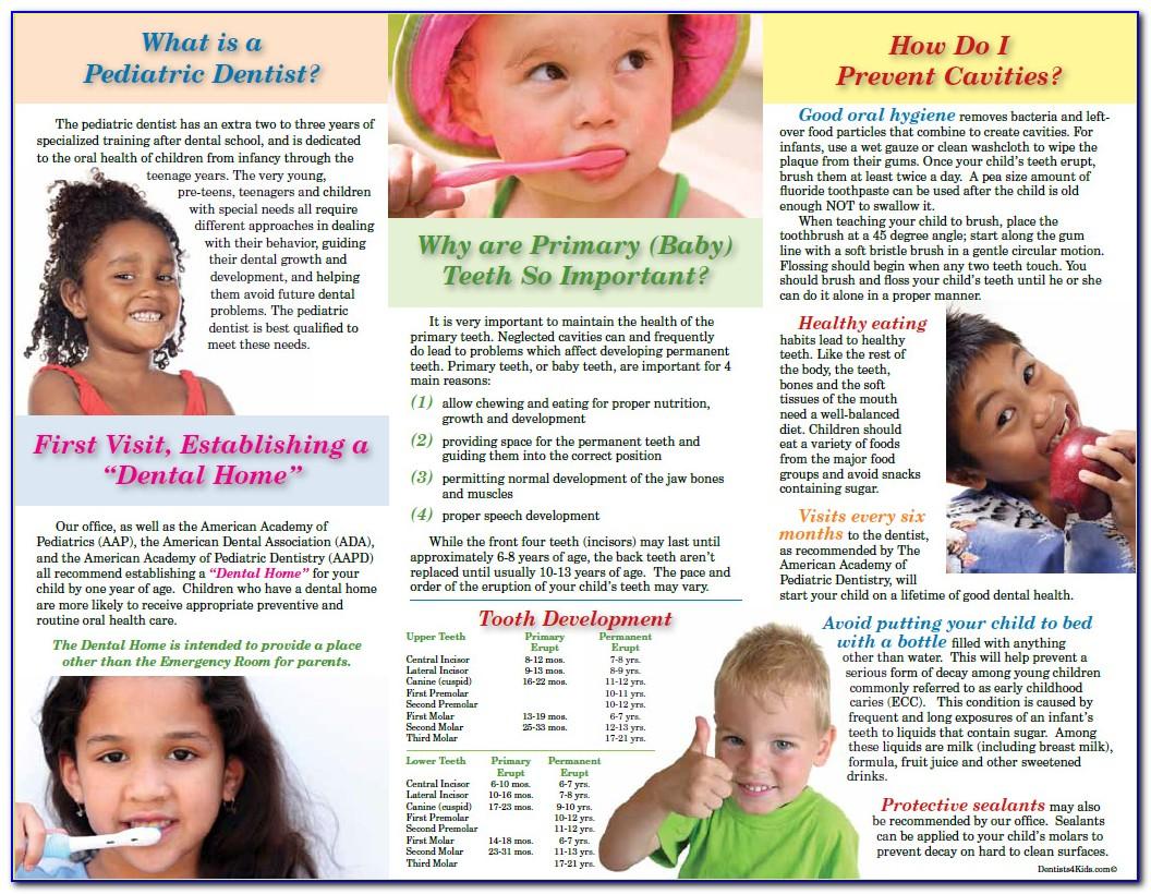 Pediatric Dentistry Brochures