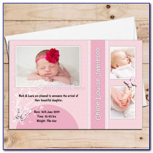 Personalised Baby Announcement Cards