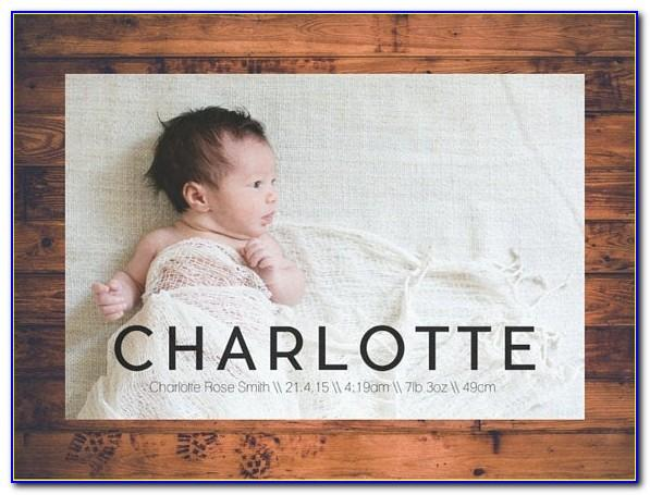 Personalised Birth Announcement Cards Uk