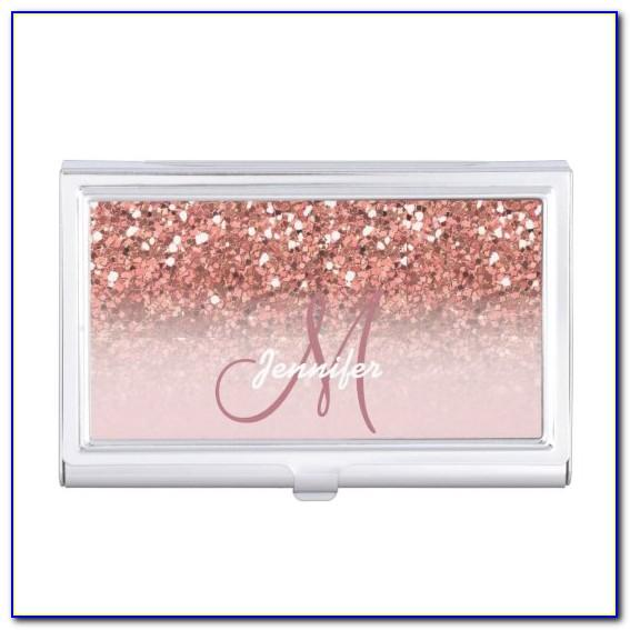 Personalised Rose Gold Business Card Holder