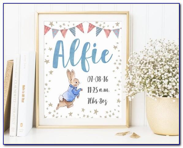 Peter Rabbit Baby Announcements