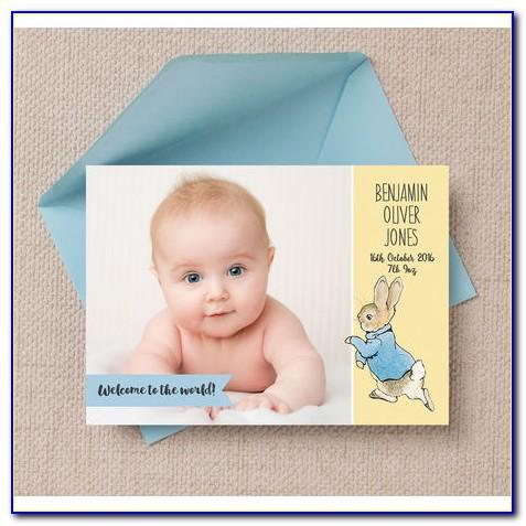 Peter Rabbit Birth Announcements
