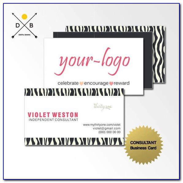 Pink Zebra Business Cards Samples