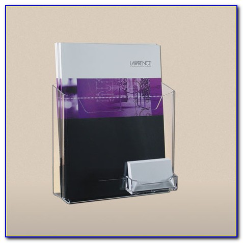 Plastic Brochure Holder With Business Card Pocket