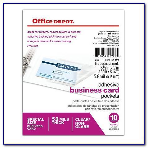 Pocket Business Card Holder Office Depot