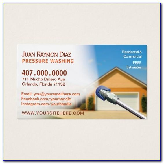 Power Washing Business Cards Templates