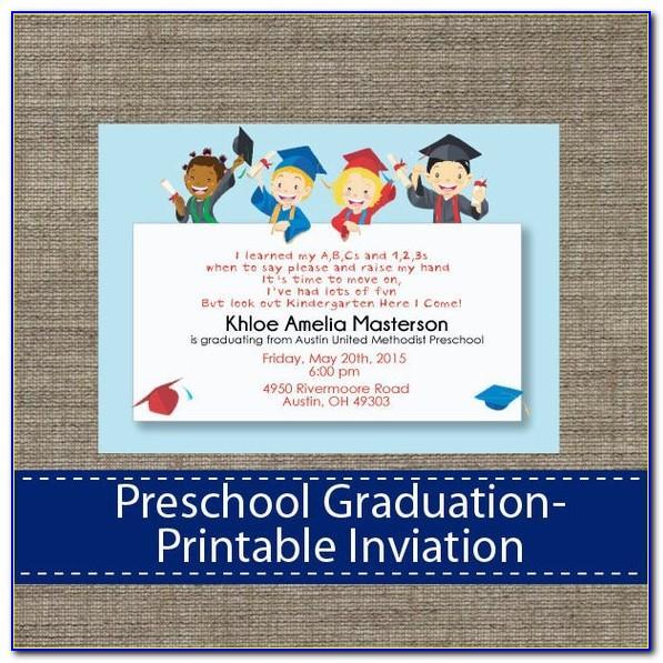 Preschool Graduation Announcements Templates