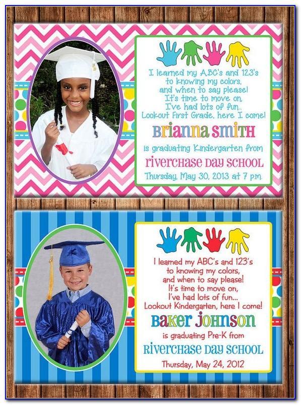 Preschool Graduation Invitation Letter To Parents