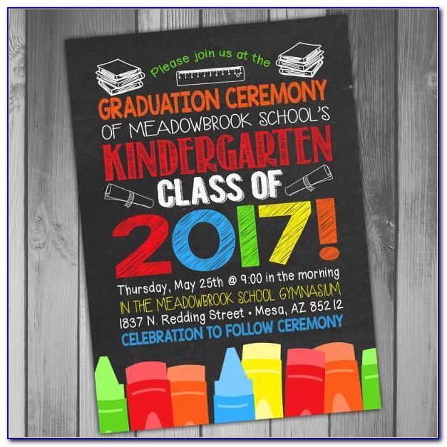 Preschool Graduation Invitation Printable