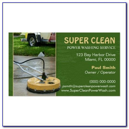 Pressure Washing Business Cards Ideas