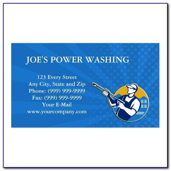 Pressure Washing Business Cards Template