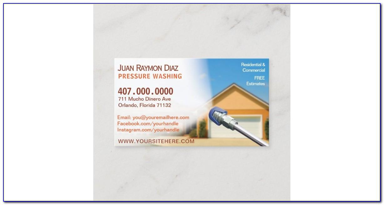 Pressure Washing Images For Business Cards