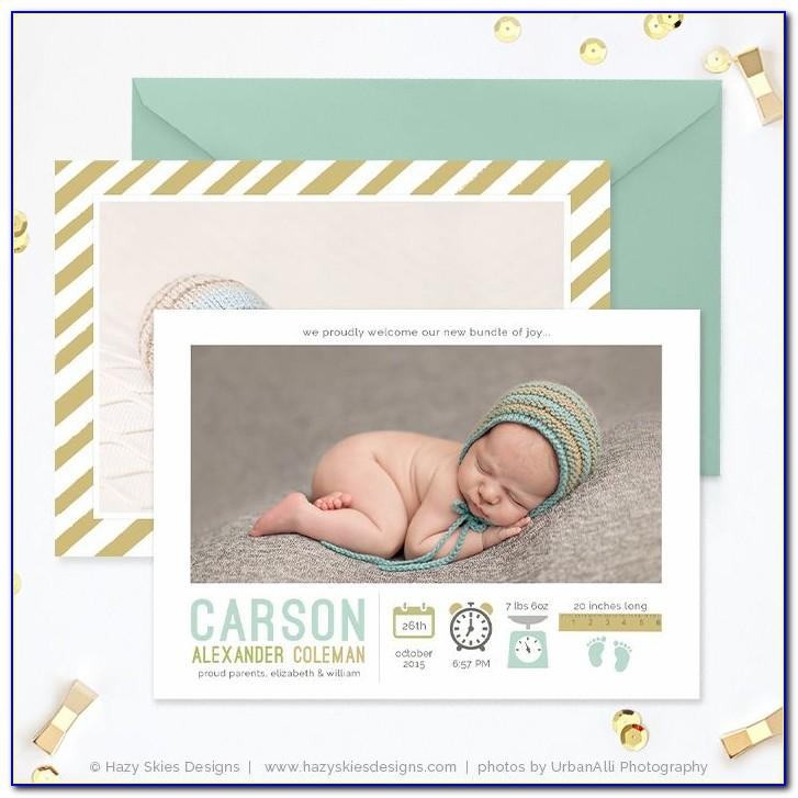 Printable Birth Announcement Template Free