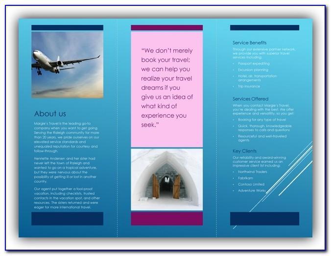 Printing Tri Fold Brochure Microsoft Word