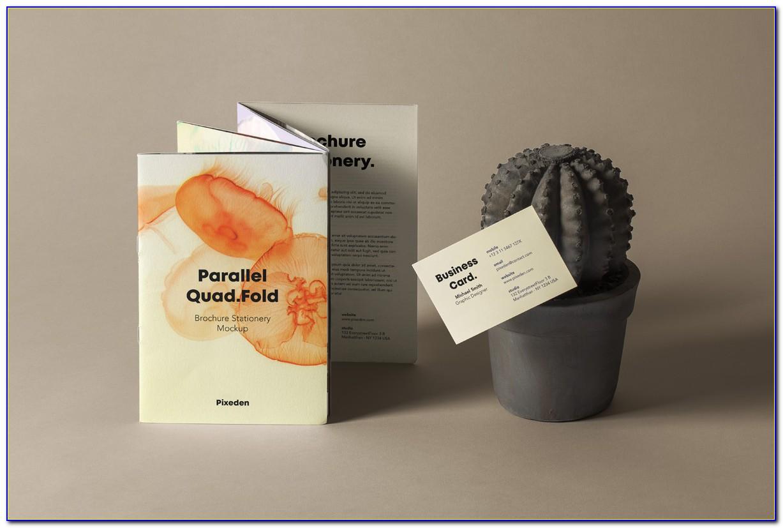 Quad Fold Brochure Indesign