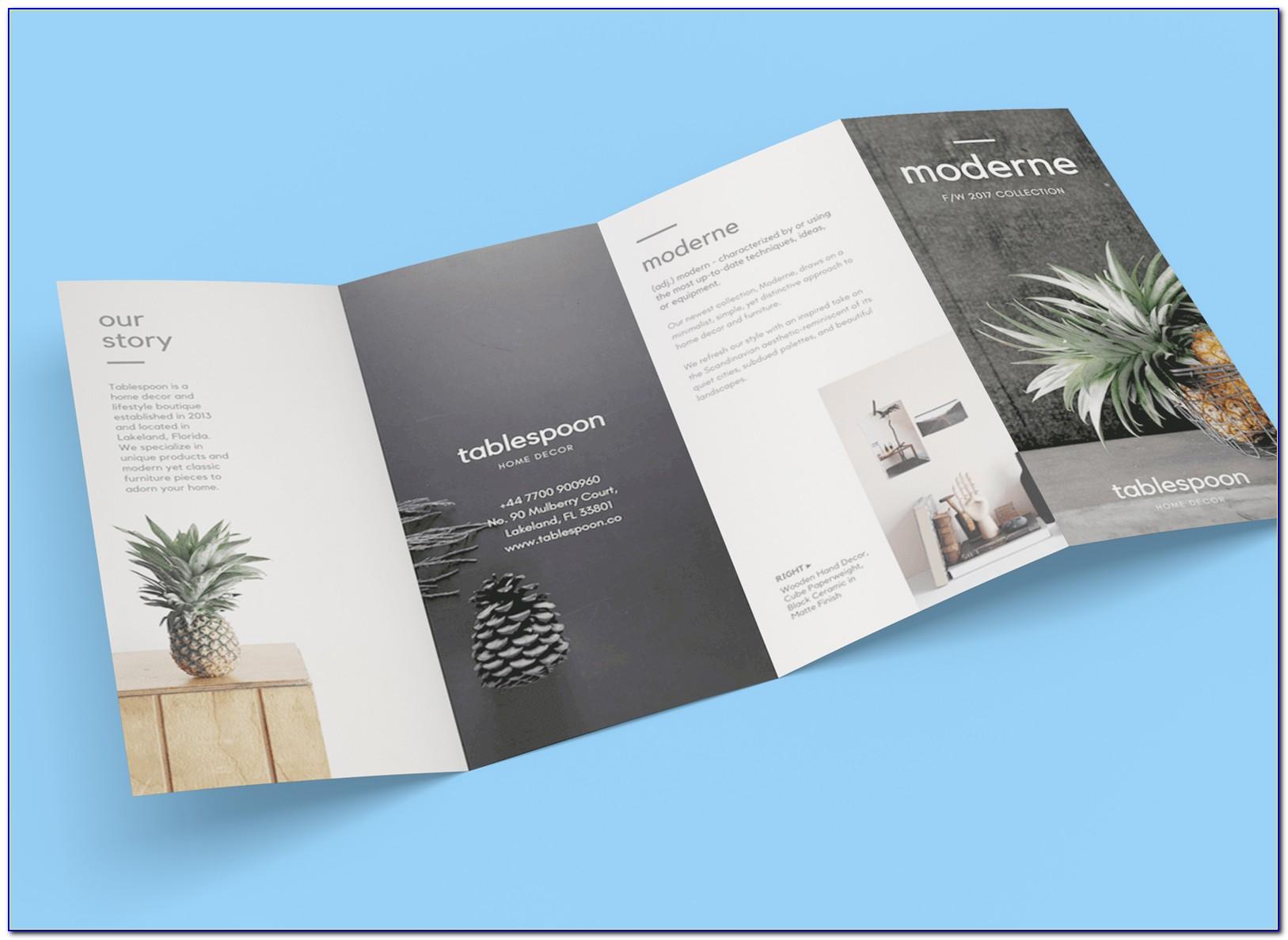 Quad Fold Brochure Mockup Free