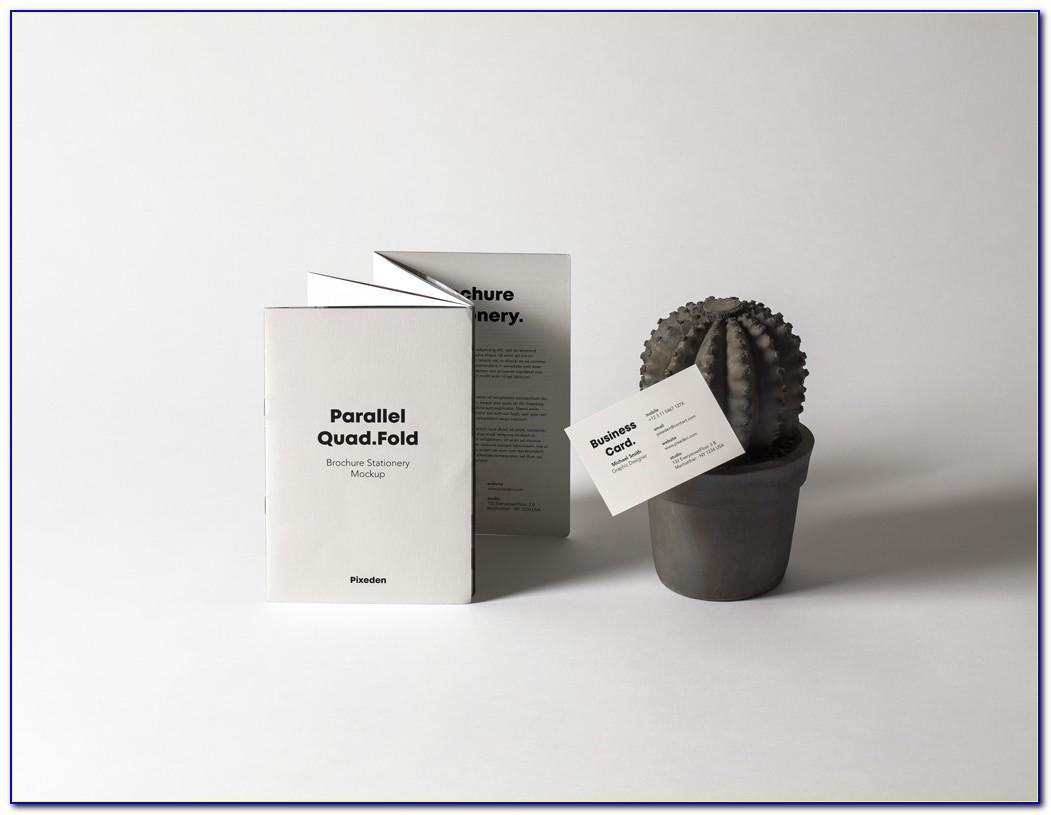 Quad Fold Brochure Mockup Psd