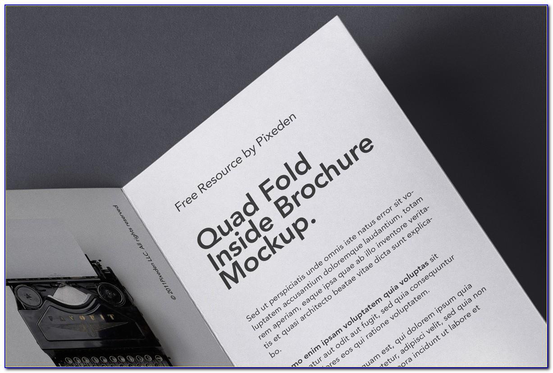 Quad Fold Brochure Size