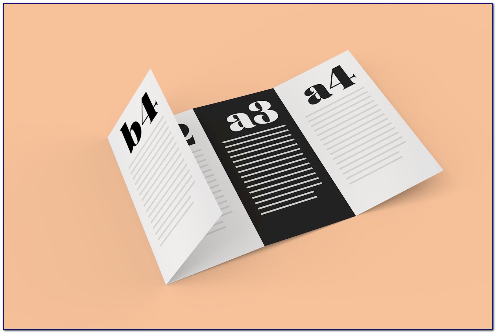 Quad Fold Brochure Template Word