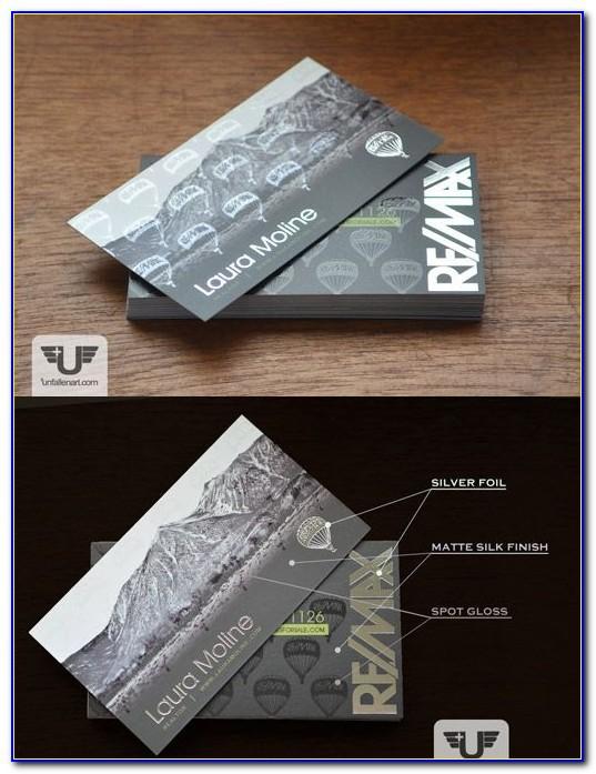 Remax Business Cards Foil