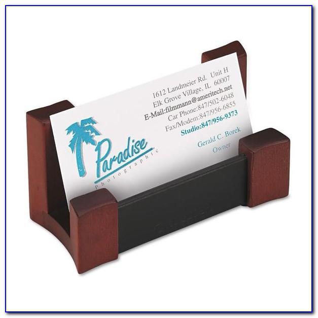 Rolodex Black Leather Business Card Holder