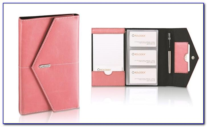Rolodex Leather Business Card Holder