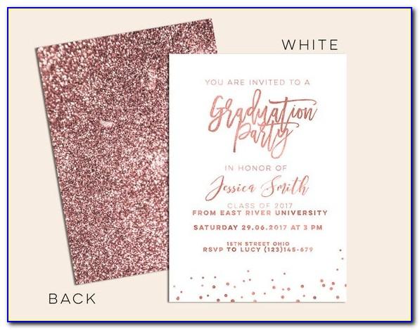 Rose Gold Graduation Invitation