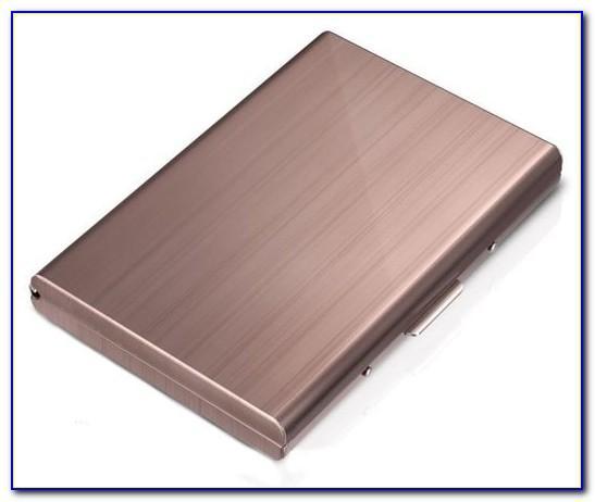 Rose Gold Metal Business Card Holder