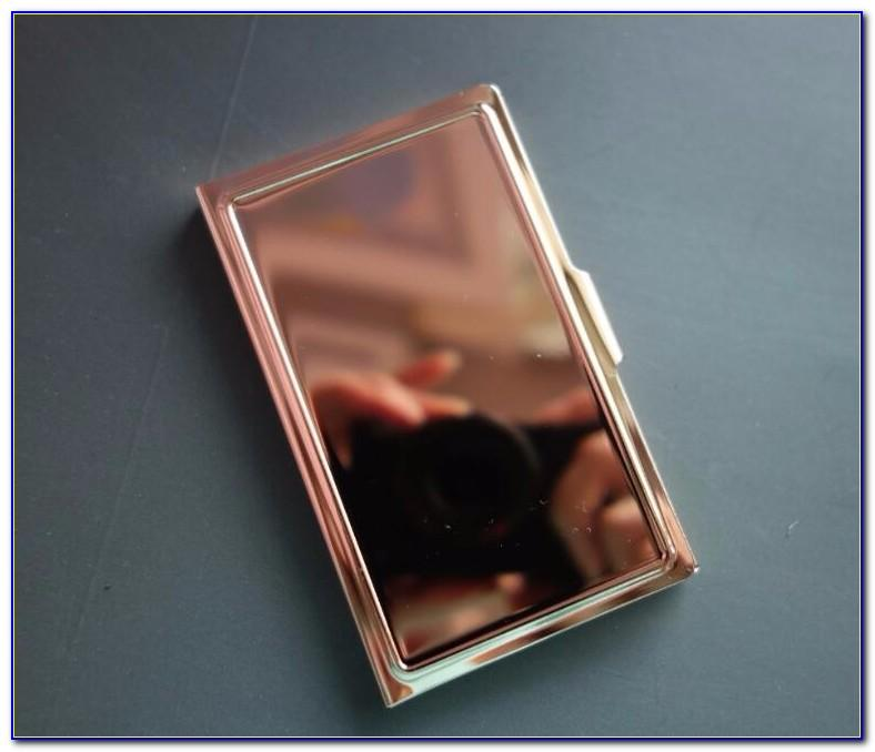 Rose Gold Personalized Business Card Holder