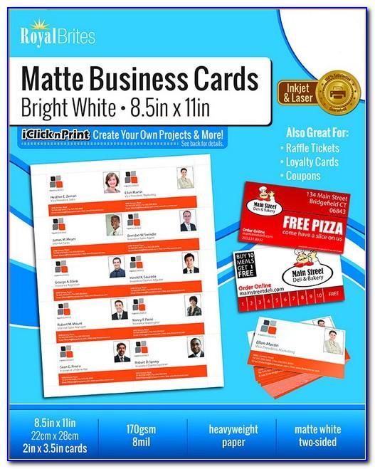 Royal Brites Matte Business Cards