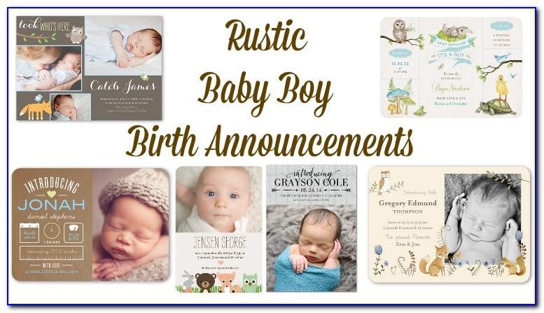 Rustic Birth Announcements