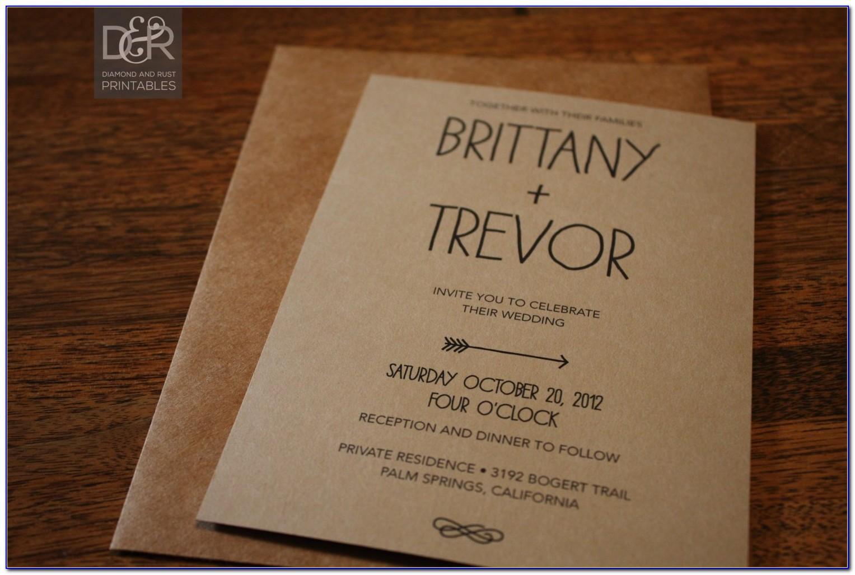Rustic Wedding Invite Template Free