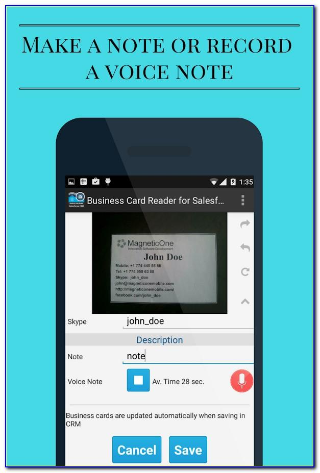 Salesforce Compatible Business Card Scanner