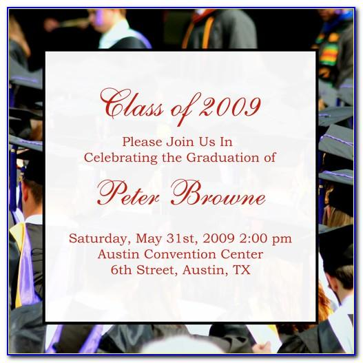 Sample College Graduation Announcement Wording With Minor