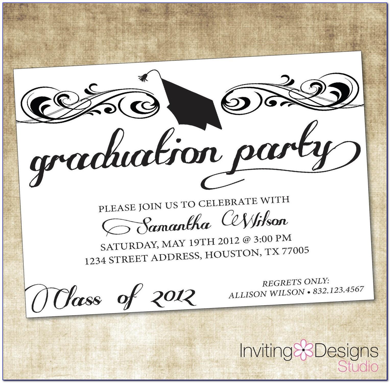 Sample Graduation Announcements Wording