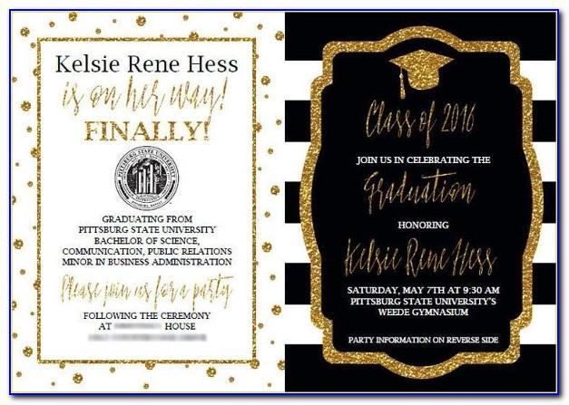 Sample High School Graduation Announcement Wording