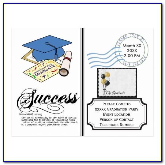 Save The Date Graduation Invitation