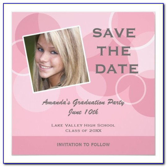 Save The Date Invitations For Graduation Party
