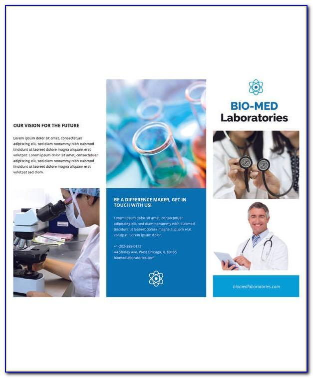 Science Brochure Template Design
