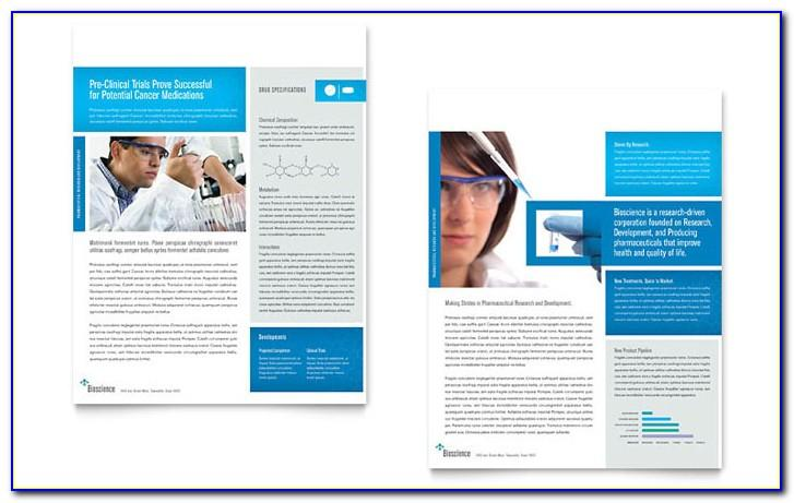 Science Project Brochure Templates